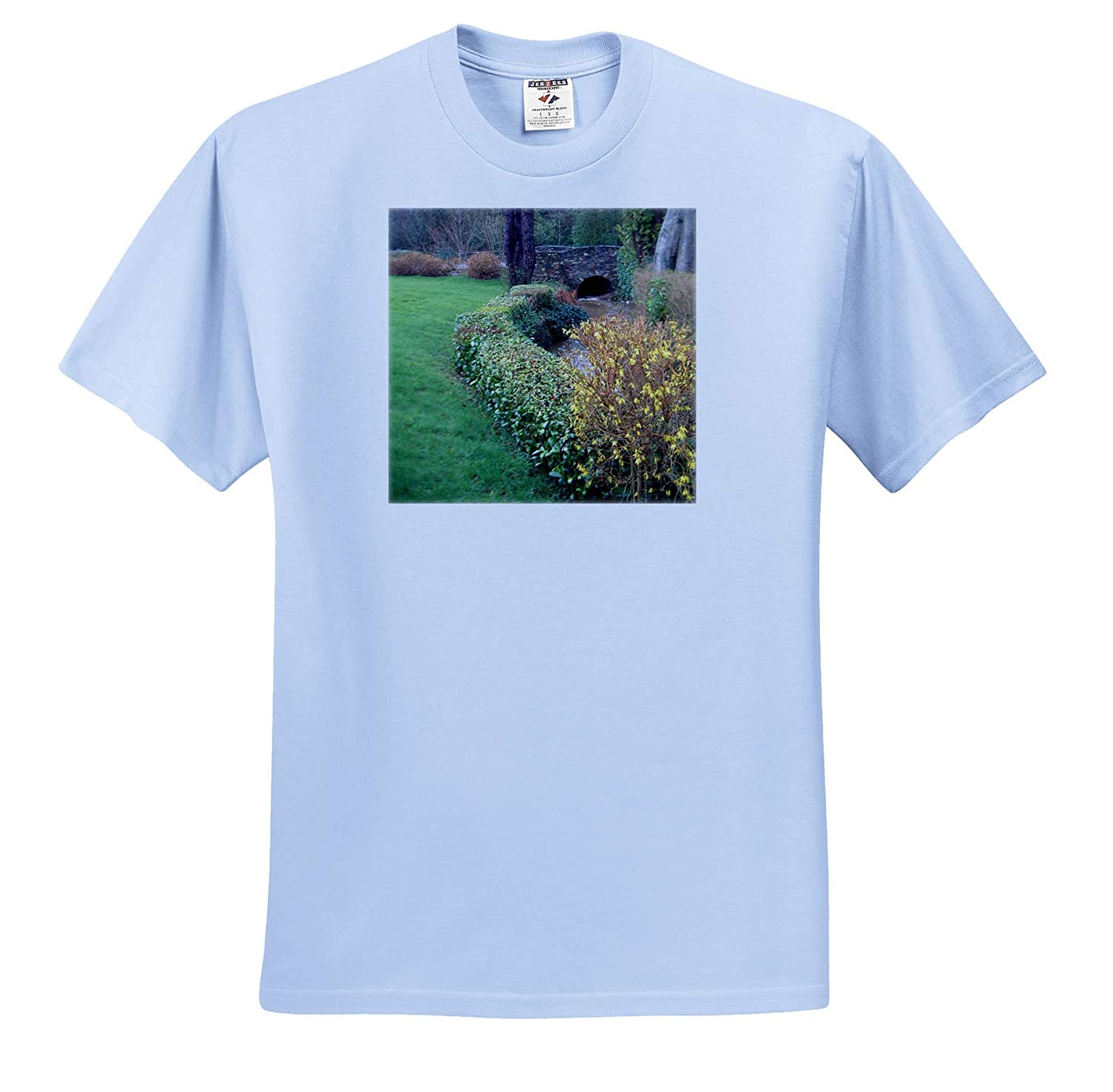 A Landscape in Ireland with Green Grass Leading to a Bridge 3dRose Jos Fauxtographee Ireland Landscape T-Shirts