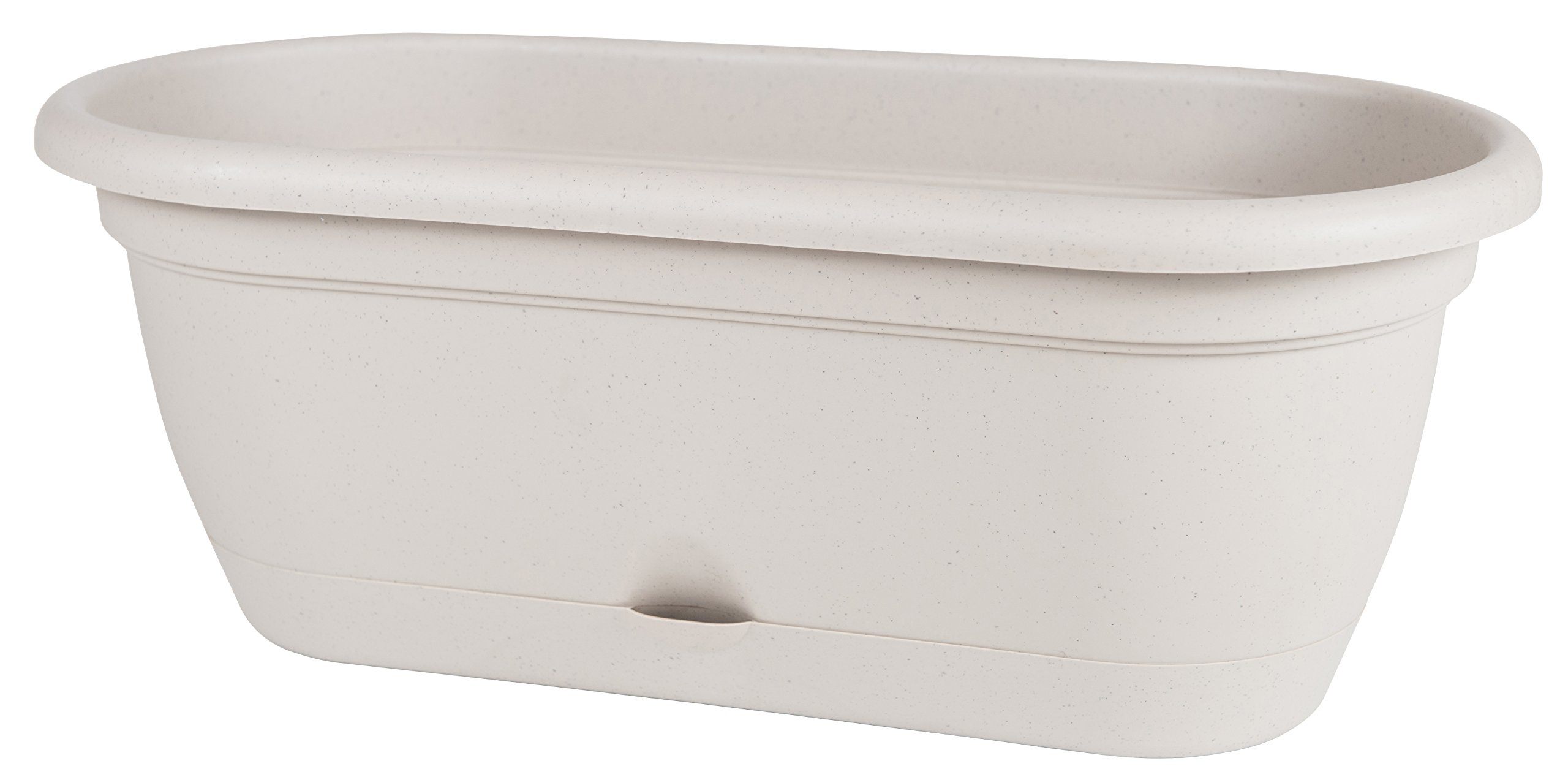 Bloem Lucca Self Watering Window Box, 18'', Taupe (LWB1835)