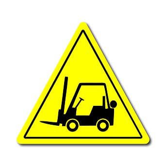 Amazon.com: Forklift - Cartel triangular para piso, 12 ...