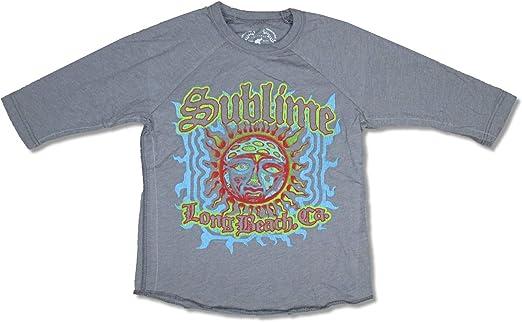 Sublime Castle Sun Kids Long Sleeve Grey T Shirt