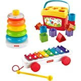 Fisher-Price Classic Stacking Rings, Xylophone & Blocks Gift Set