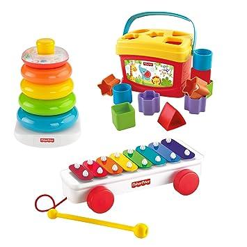 6ad697313 Fisher-Price - Juguete para apilar y Encajar (Mattel BLT46): Amazon.es:  Juguetes y juegos