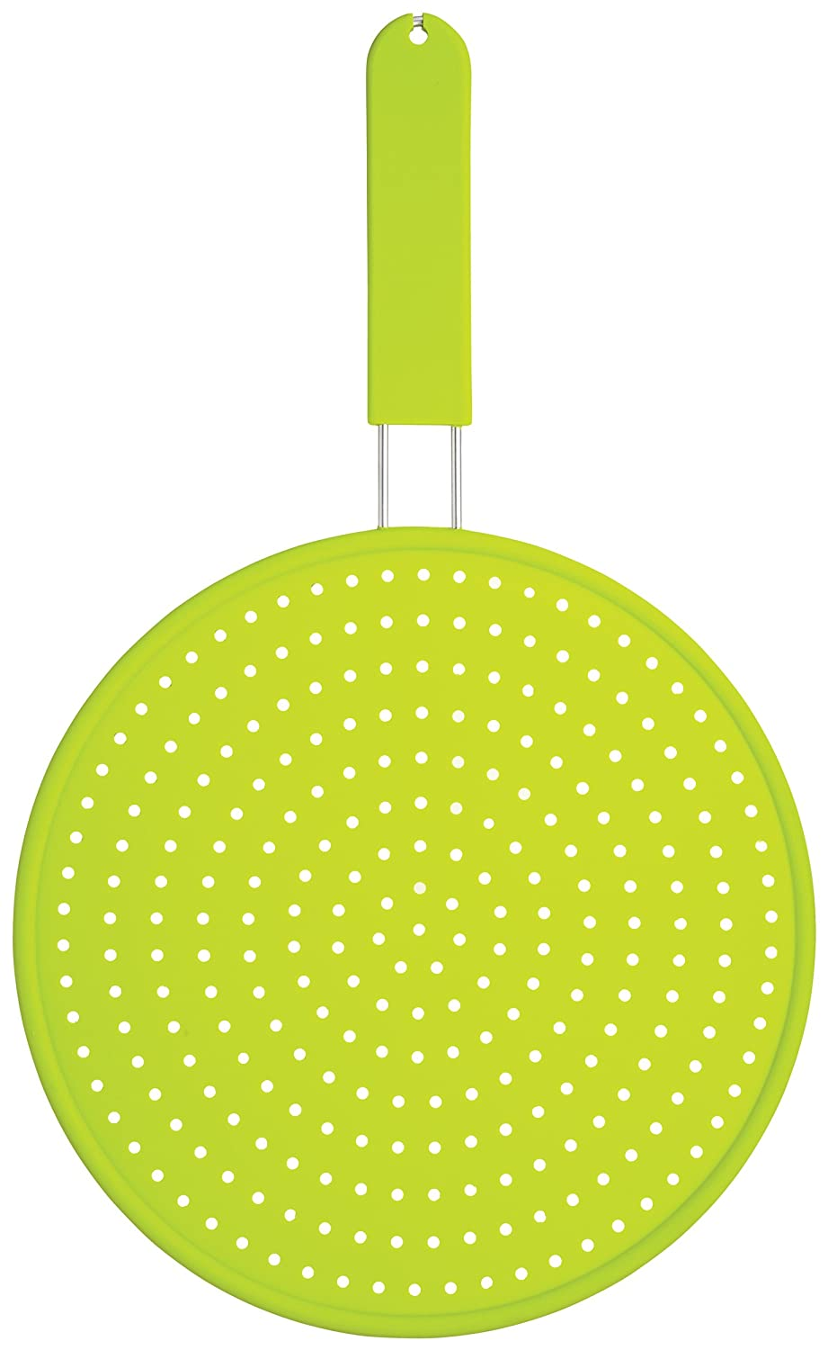 Kitchen Craft Colourworks Silicone Splatter Guard, Green, 28cm CWSPLATTERGRN