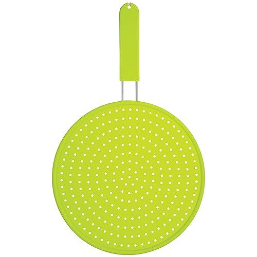 KitchenCraft Colourworks Silicone Splatter Screen, 28 cm - Green