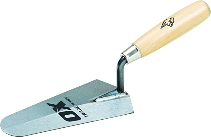 OX Trade Gauging Trowel 180mm Wooden Handle  7