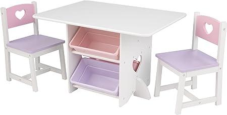 KidKraft-Heart Juego de mesa y 2 sillas de madera con corazón con ...