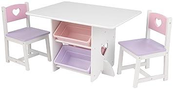kidkraft juego de muebles infantiles de mesa y sillas diseo de corazn
