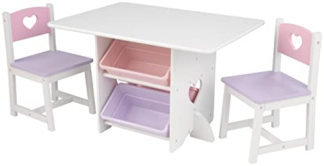 Körben Aus Weißamp; Holz 2 Tisch Mit 26913 Kinder Kinderzimmer Möbel Herz Für Kidkraft Stauraum Pastellfarben Stühlen f7Y6vbgy