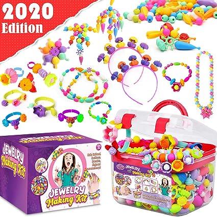 Pcs Kids Jewelry Making Kit Girls DIY Snap Toys For Toddlers Art Pop Beads 600