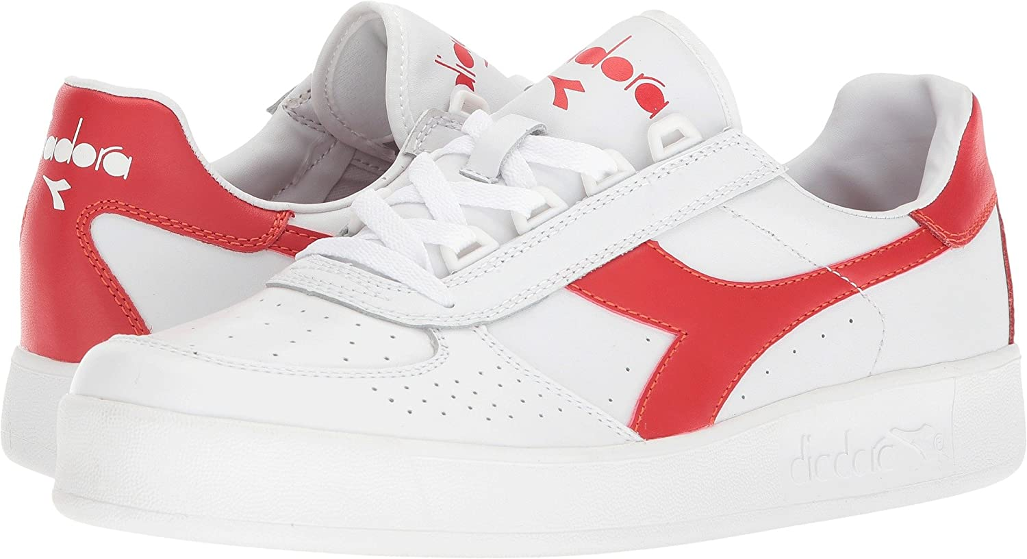 [ディアドラ] DIADORA B.ELITE 3 B078CXRR9T 4 D(M) US|White/Ferrari Red Italy White/Ferrari Red Italy 4 D(M) US