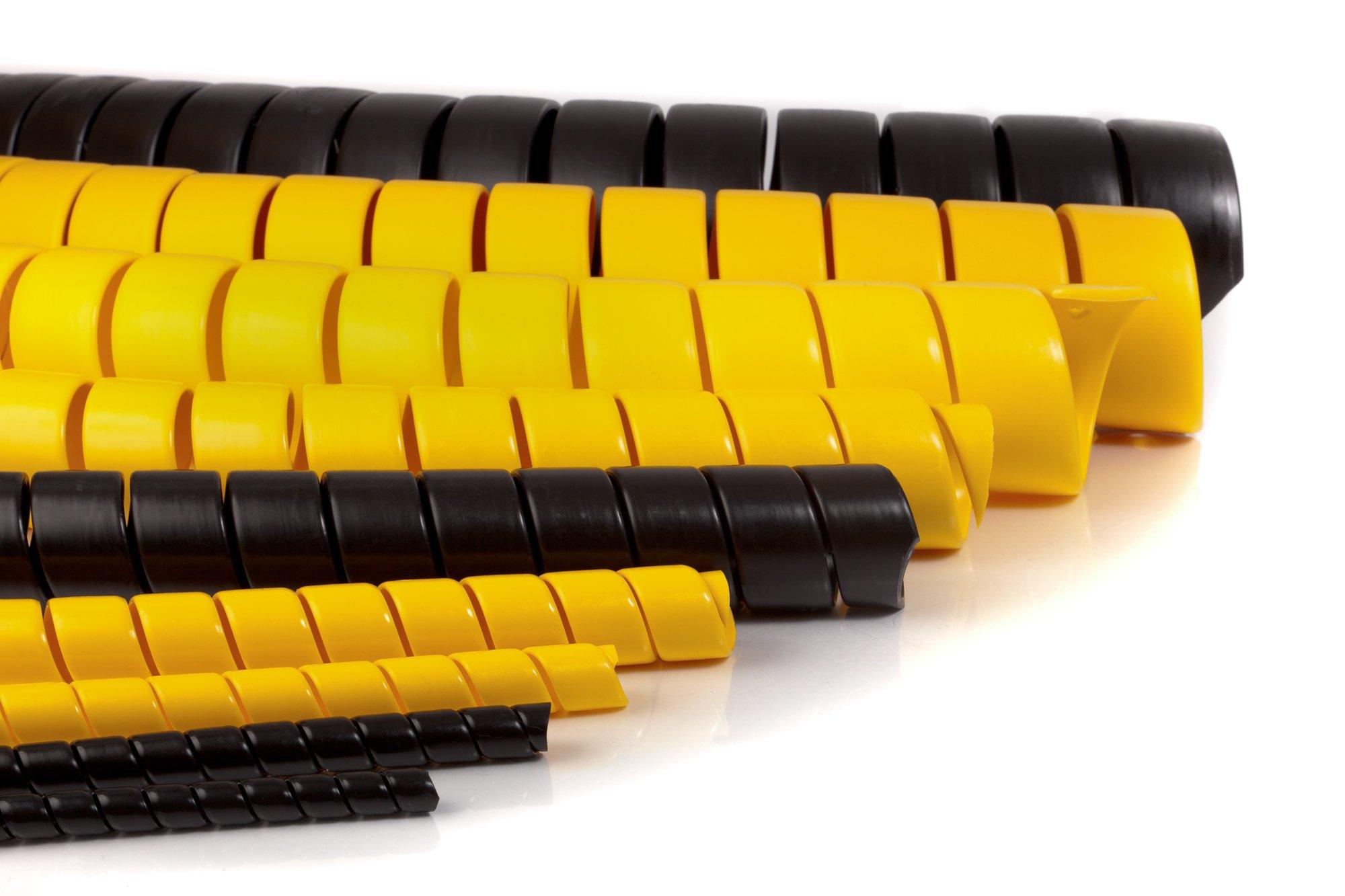Spiral Wrap Hose Protector, 3/4'' OD, 100' Length, Black by Safe-Spiral (Image #2)