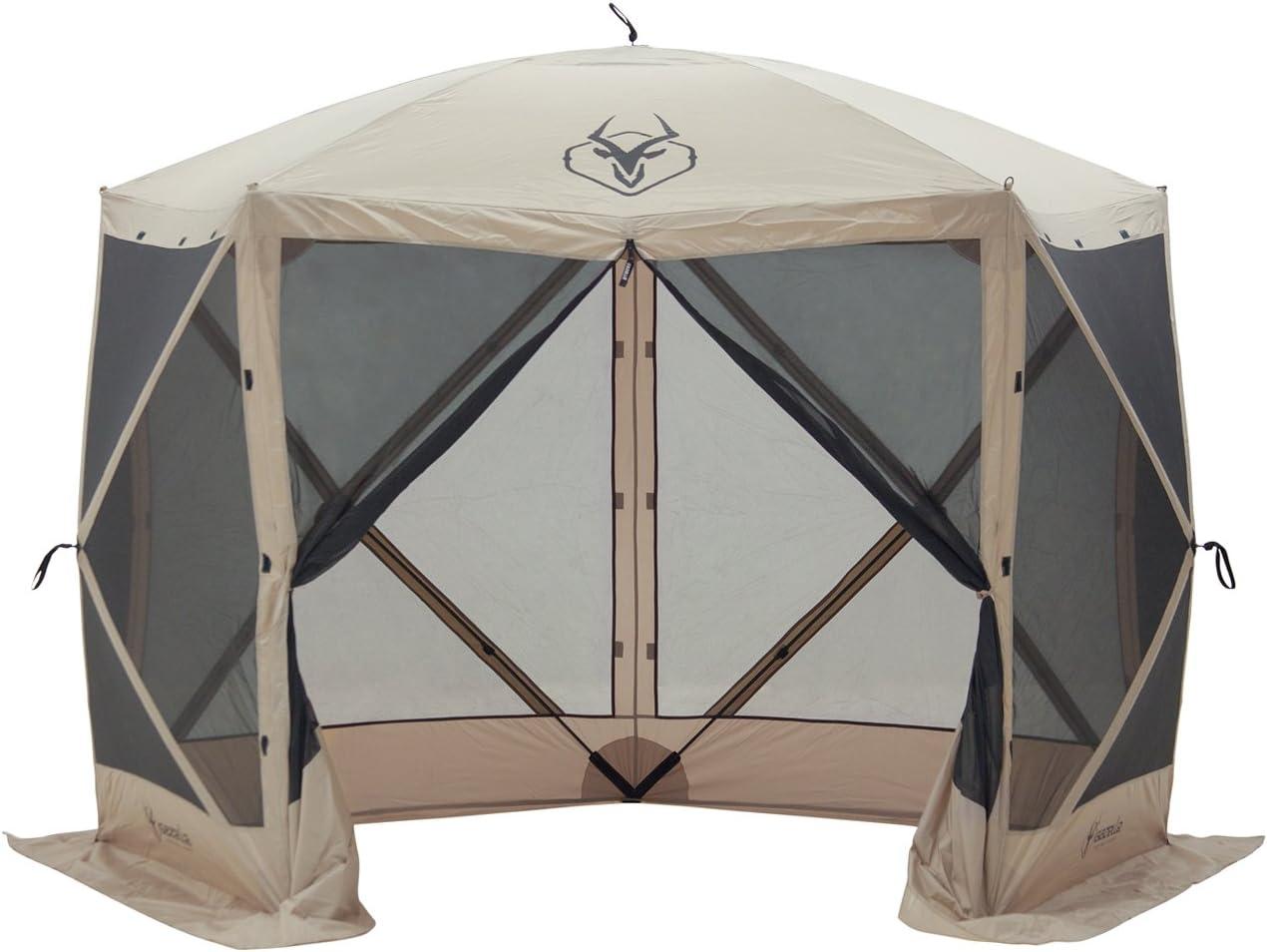 Clam Quick-Set Escape Portable Extérieur Gazebo Canopy marron Open Box Heavy Duty