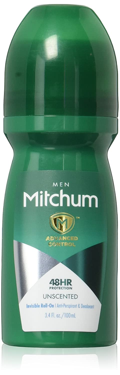 Mitchum Men Advanced Anti-Perspirant & Deodorant Invisible Roll-On Unscented - 3.4 oz, Pack of 4 REVLON INC BEAUTY CARE