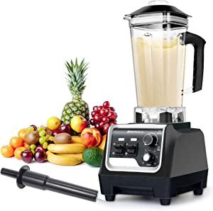 BATEERUN 2200W Professional Blender with 68 Oz Tritan Pitcher, High Speed Countertop Blender for Shakes and Smoothies with Adjustable Speeds Control, Commercial Smoothie Blender for Kitchen, Milkshake, Smoothie Maker BPA-Free (Black)