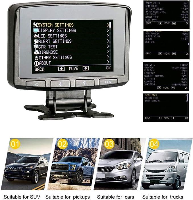 AUTOOL X50 PRO Car Hud Display Escáner de código de velocímetro Automotriz Pantalla ascendente para vehículos de gasolina diesel 12V OBDII: Amazon.es: Electrónica