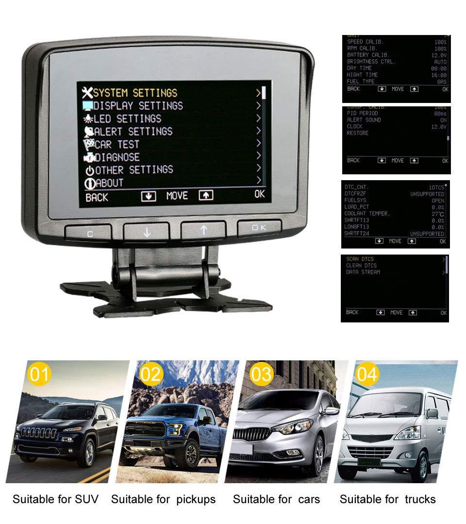 AUTOOL X50 PRO Multi-Function Car OBD Smart Digital Meter & Alarm Fault Code Water Temperature Gauge Digital Voltage Speed Meter Display Support 12V OBDII Diesel Vehicles (X50 PRO) by AUTOOL (Image #4)