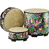 "Remo Drum, KIDS PERCUSSION, Gathering Drum, 18"" Diameter, 8"" Height, Fabric Rain Forest"