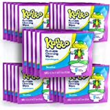 Kandoo Flushable Sensitive Wipes On-the-Go (Total of 50 Wipes) –25 individually wrapped 2ct packs of Kandoo Wipes
