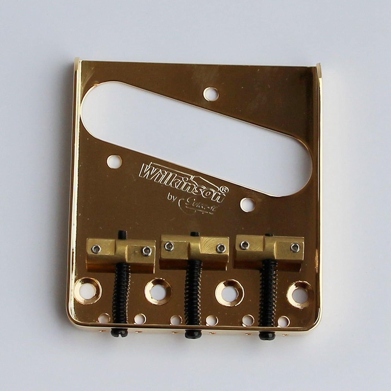 Wilkinson Vintage Bridge Wtb Telecaster Steel Base Brass Pickup Wiring Diagram Saddles For Tele Guitar Gold Liuxin