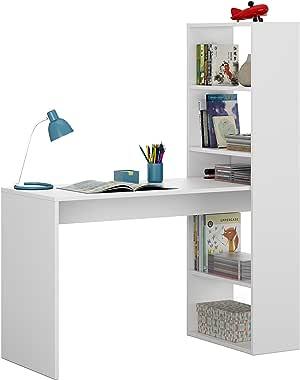 Habitdesign 008314A - Escritorio y estantería reversible, mesa de ...