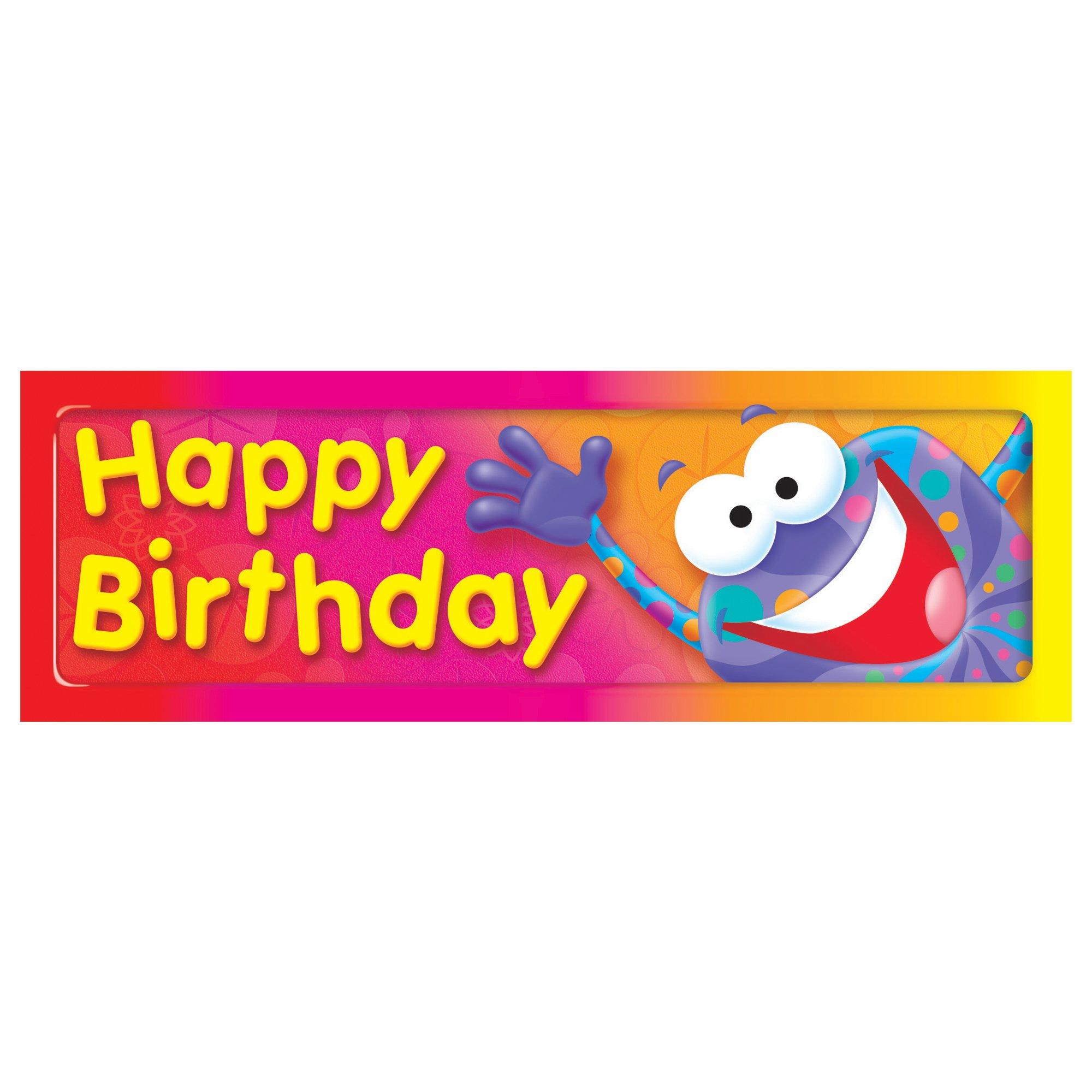 TREND enterprises, Inc. T-12061BN Happy Birthday Frog-Tastic! Bookmarks, 36 Per Pack, 12 Packs