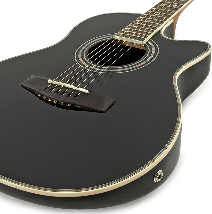 Guitarra Deluxe Con Dorso Redondeado + Pack Completo - Negro ...