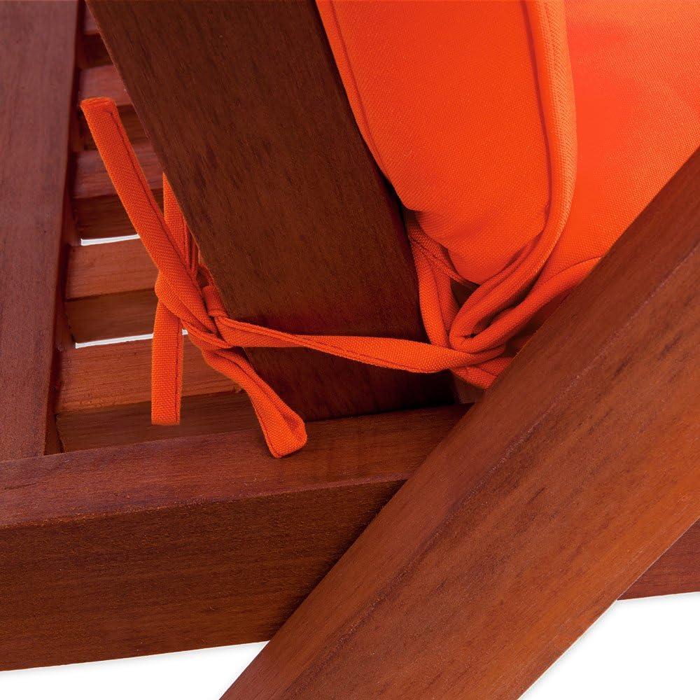 Detex/® Stuhlauflagen Vanamo Befestigungsschlaufen 6er Set Auflage Hochlehner Sitzauflage Stuhlkissen Kissen Gr/ün