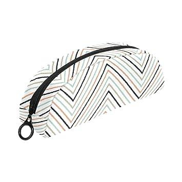 COOSUN Estuche de lápices geométricos con patrón de Chevron ...