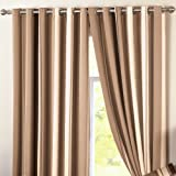 """Dreams 'n' Drapes Curtina - Whitworth - Ready Made Lined Eyelet Curtains - 66"""" Width x 72"""" Drop (168 x 183cm), Natural"""