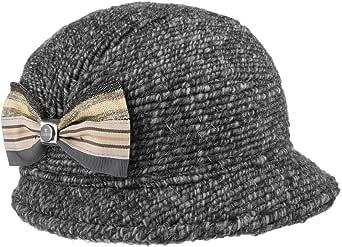 Lierys Sombrero de Lana Keira Mujer - Made in Italy Invierno con Visera, Forro, Forro otoño/Invierno