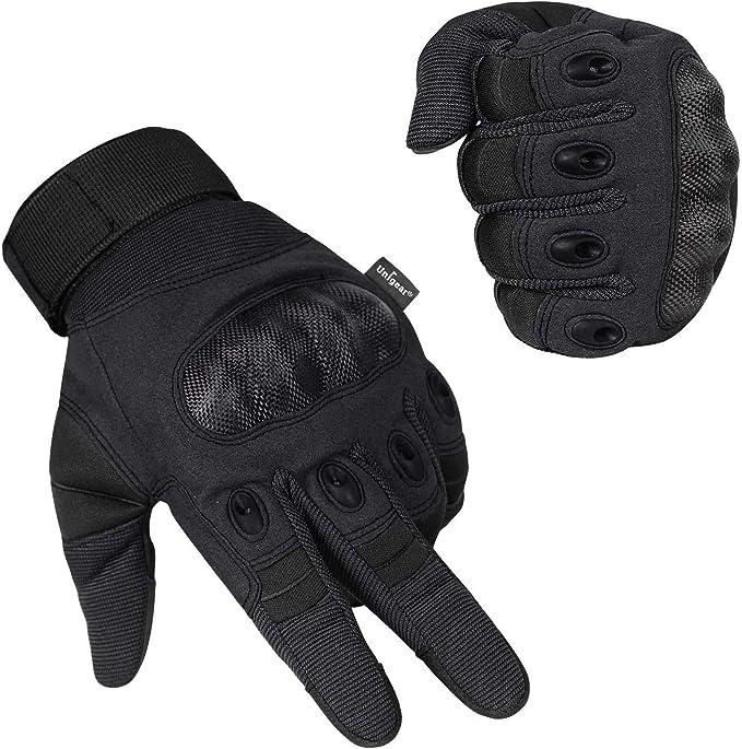 Unigear Motorrad Handschuhe Touchscreen Vollfinger Und Halbfinger Handschuhe Für Motorrad Klettern Wandern Radfahren Jagd Outdoor Sportausrüstung Bekleidung