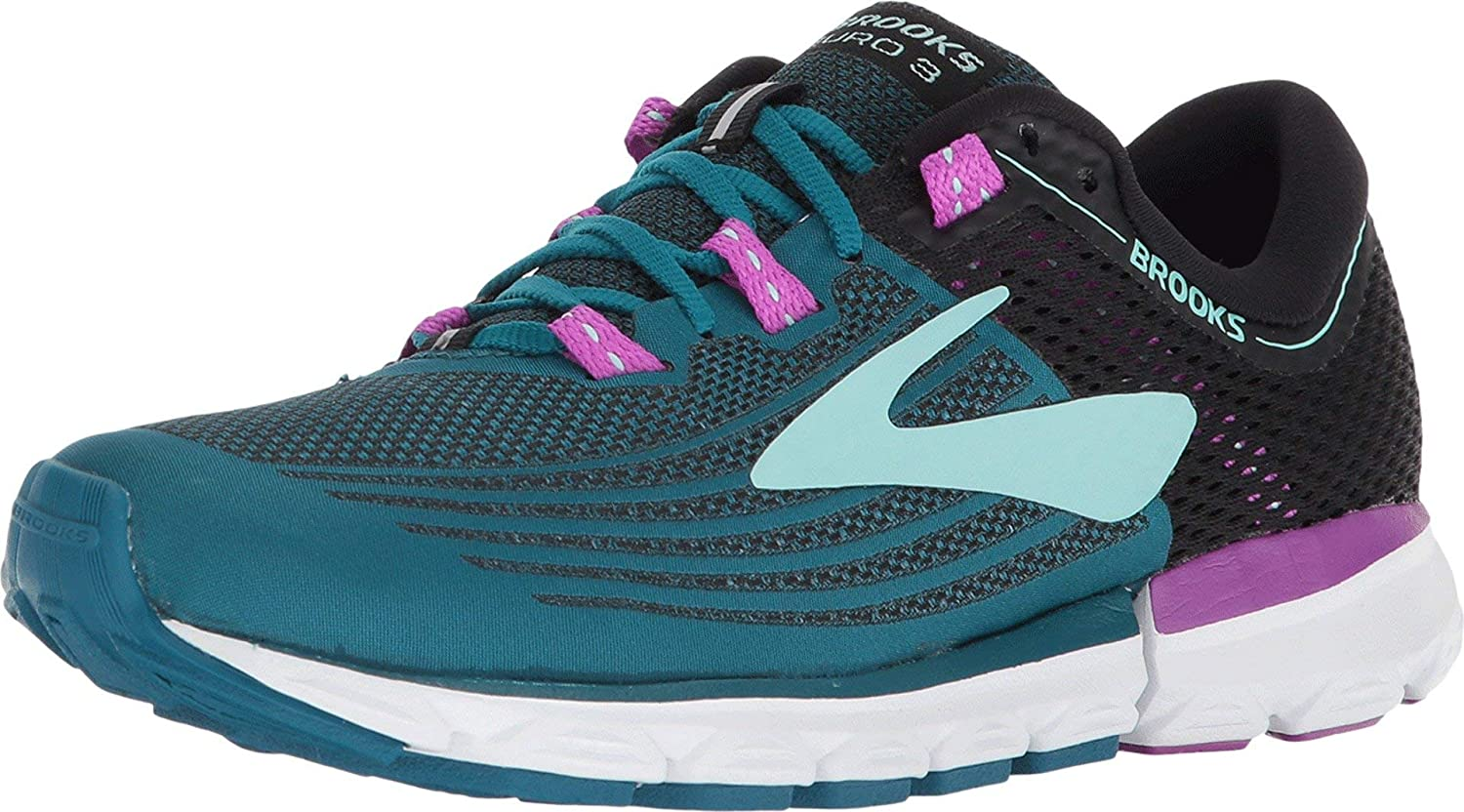 Brooks Neuro 3, Zapatillas de Running para Mujer, Multicolor (Lagoon/Black/Purple 329), 36 EU: Amazon.es: Zapatos y complementos