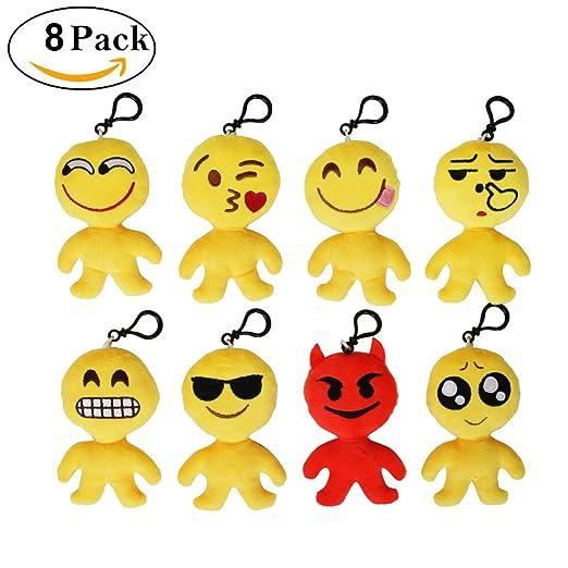 41 opinioni per Cusfull Mini Emoji Portachiavi Portachiavi Partito Morbido Bel Regalo Emoji