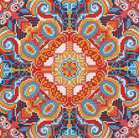 DMC Floral Illusion Counted Cross Stitch Kit - Floral Counted Cross Stitch