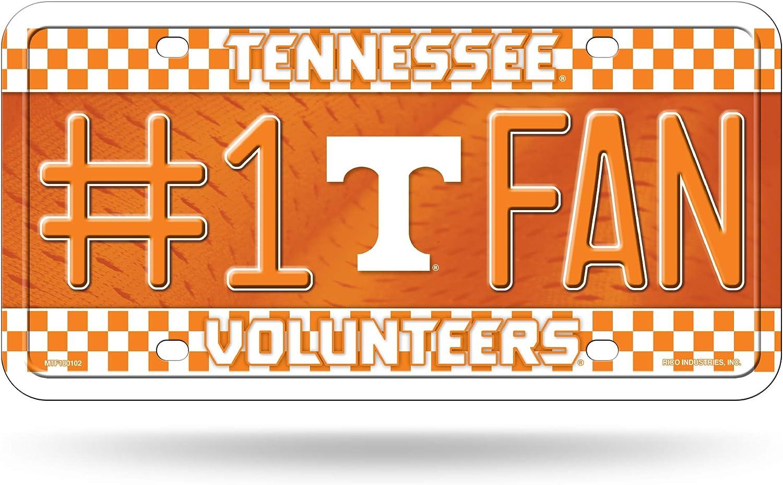 NCAA Rico Industries  #1 Fan Metal License Plate Tag Tennessee Volunteers