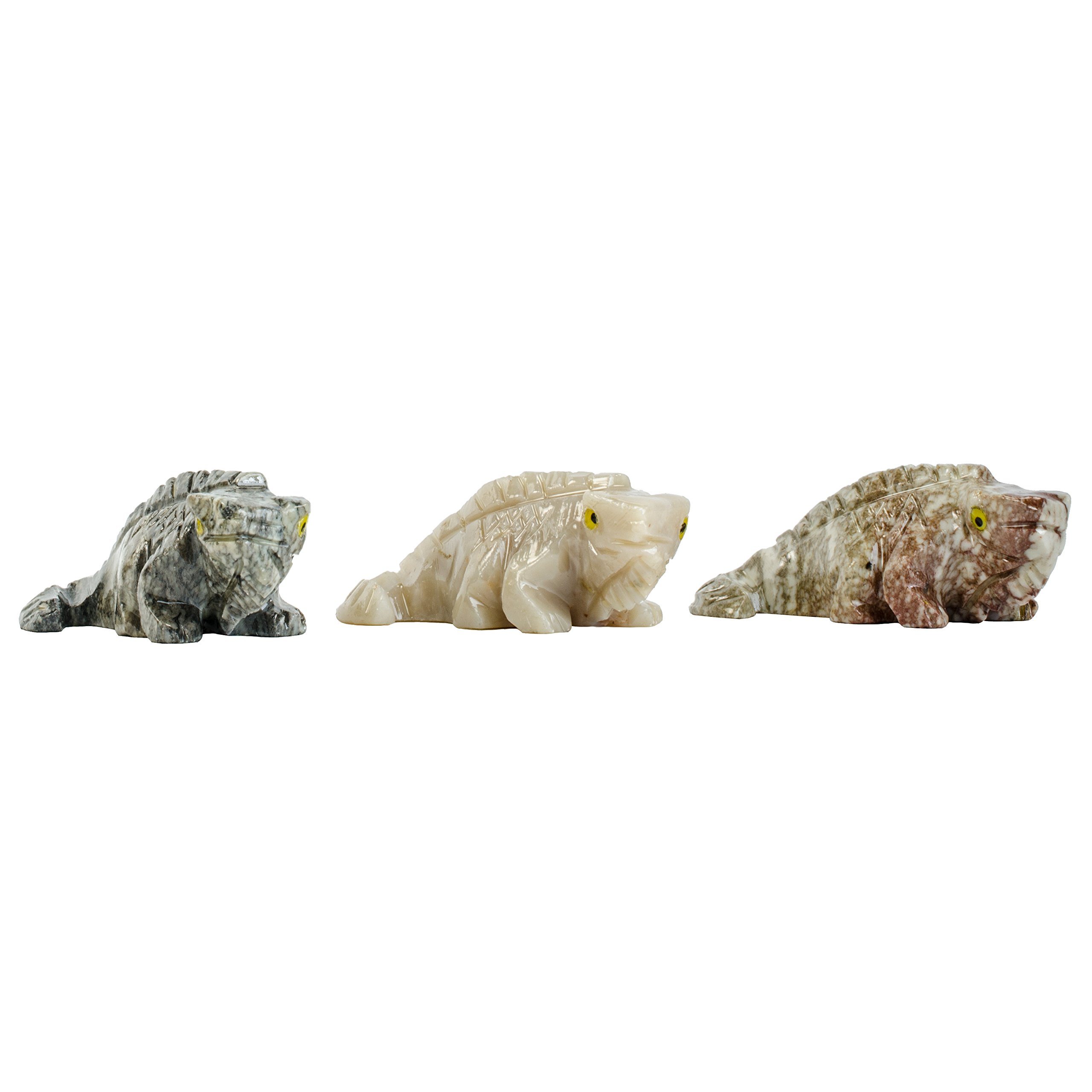 Digging Dolls : 10 pcs Artisan Iguana Collectable Animal Figurine - Party Favors, Stocking Stuffers, Gifts, Collecting and More!