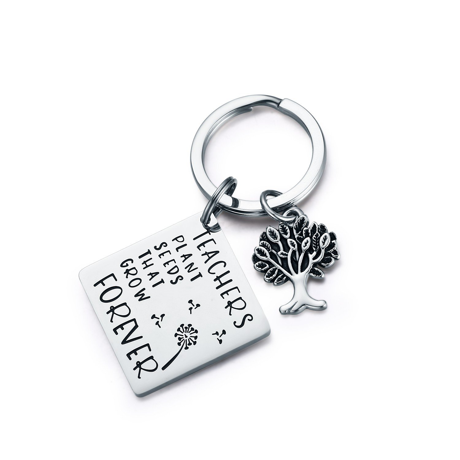 CJ&M Graduation Gift,Personalized Teacher keychain,Christmas Gifts for Teacher, Gift from Student, Personalized Teacher Jewelry (Keychain)