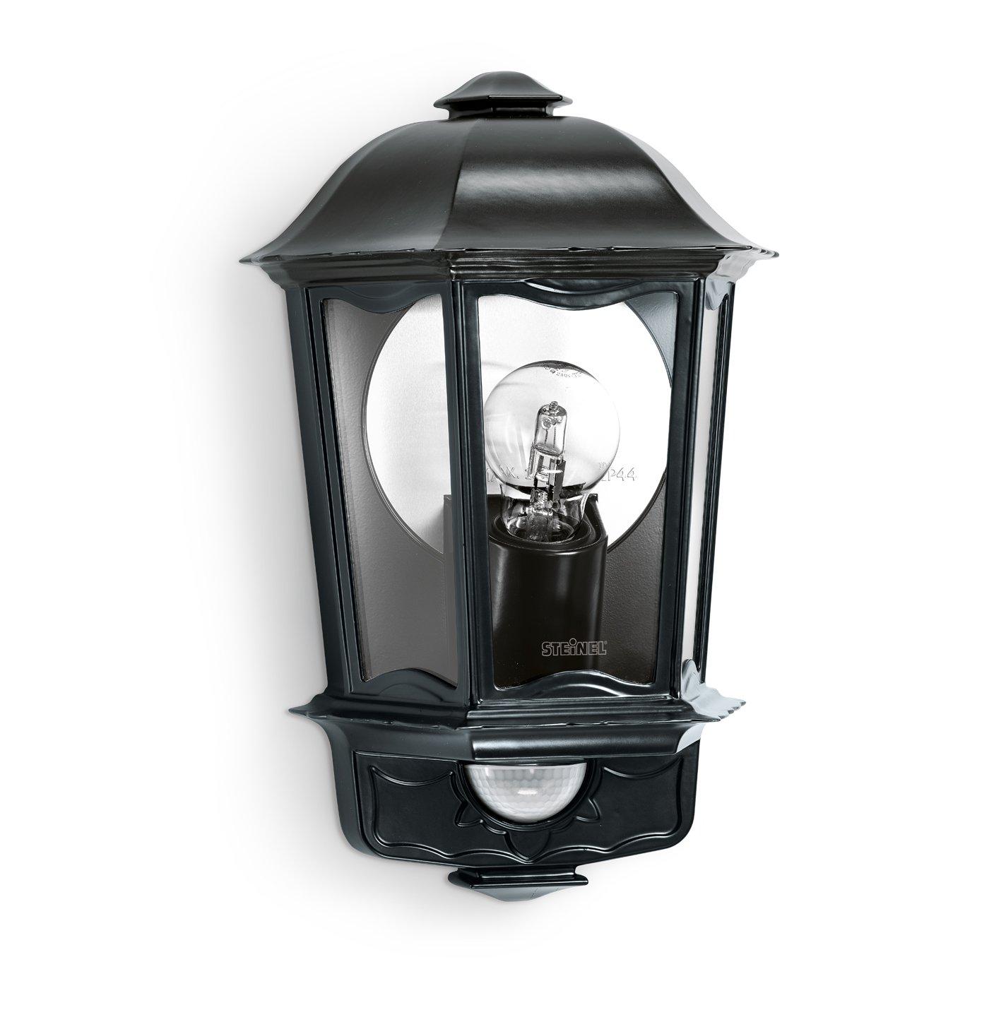 Steinel Außen-Wandleuchte L 190 S weiß, 180° Bewegungsmelder, 12 m Reichweite, Softlicht, Grundlicht, Dauerlicht 180° Bewegungsmelder L190