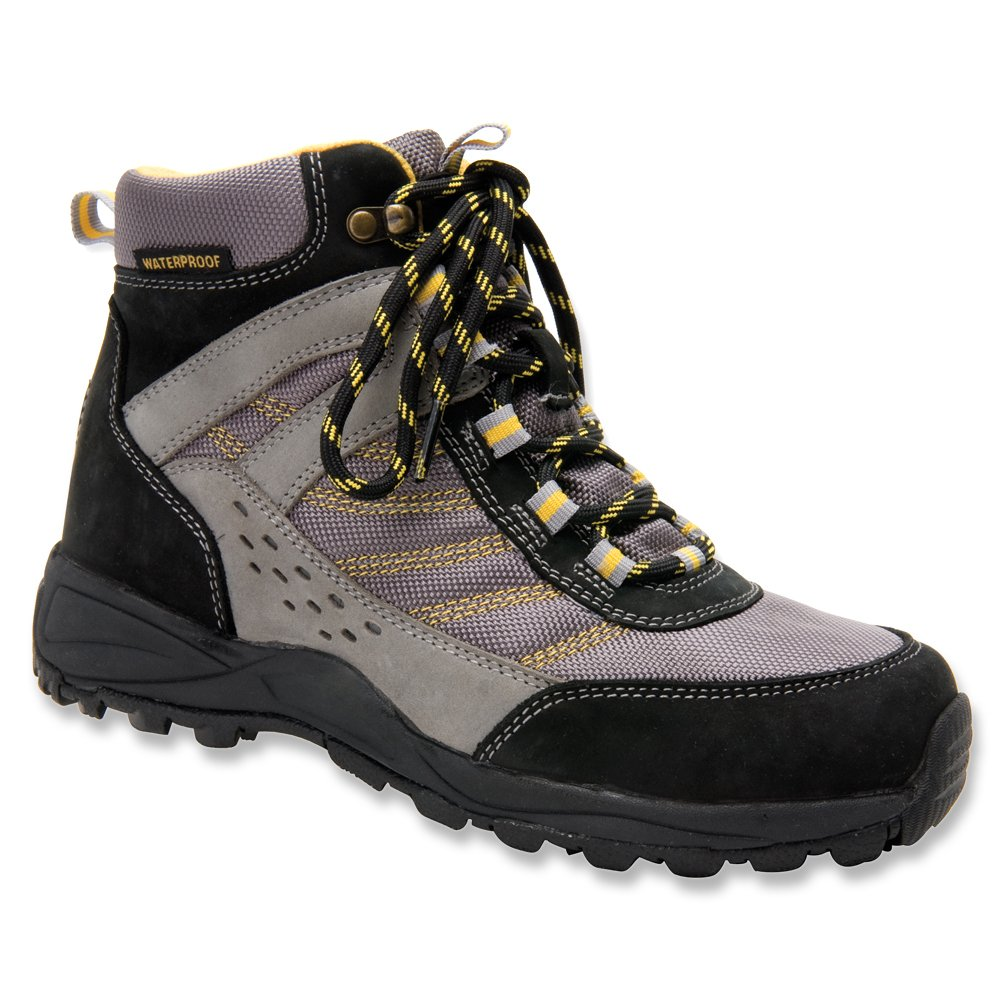 Drew Shoe Women's Glacier WR SR Lightweight Hiking Boot B00OUAXM0G 8.5 WW|Black / Grey Nubuck