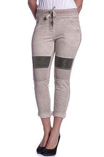 Abbino 3222A-8 Pantalón para Mujer - Hecho en ITALIA - 6 Colores - Entretiempo Primavera Verano Otoñ...