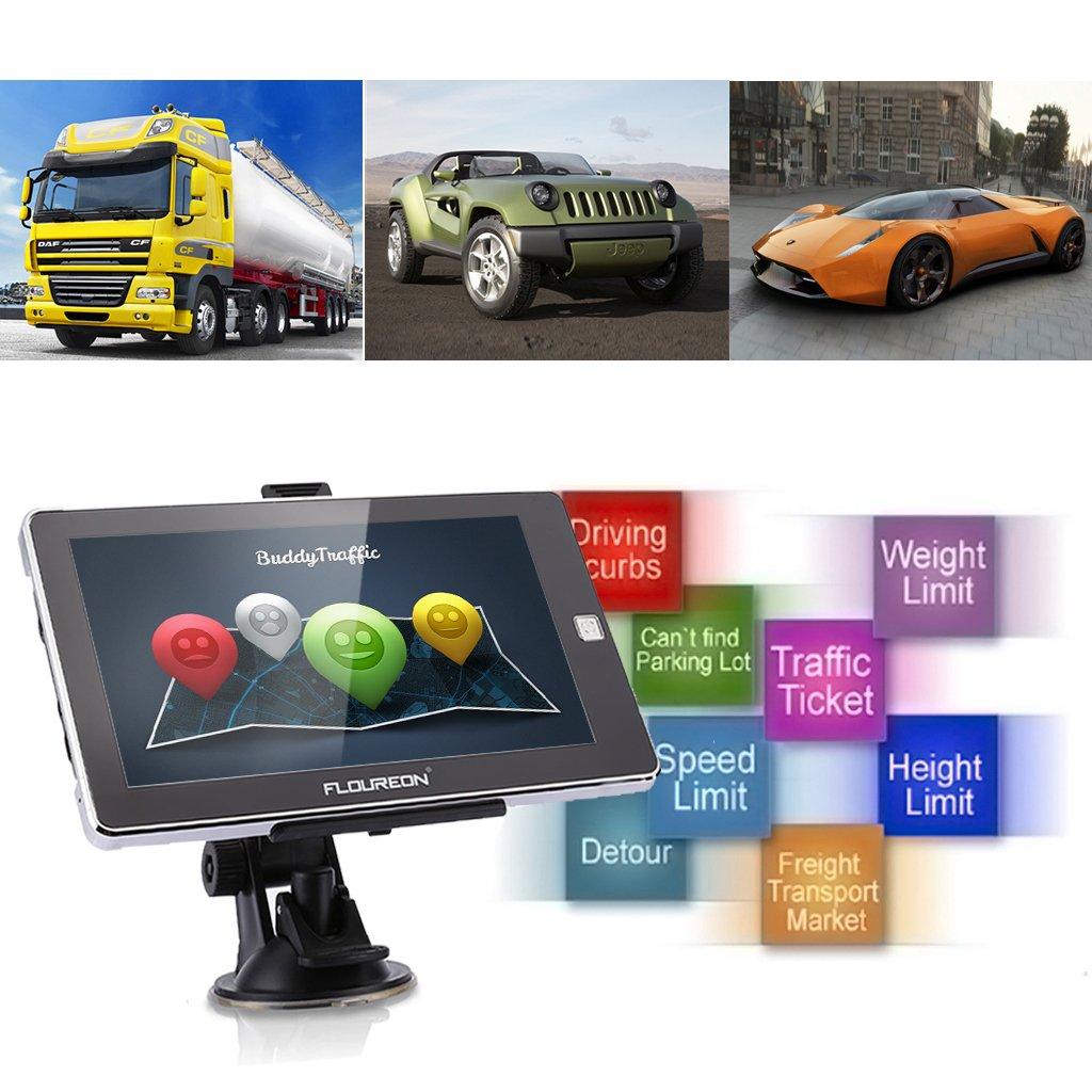 FLOUREON Navegación GPS para Camiones y Coches, 7