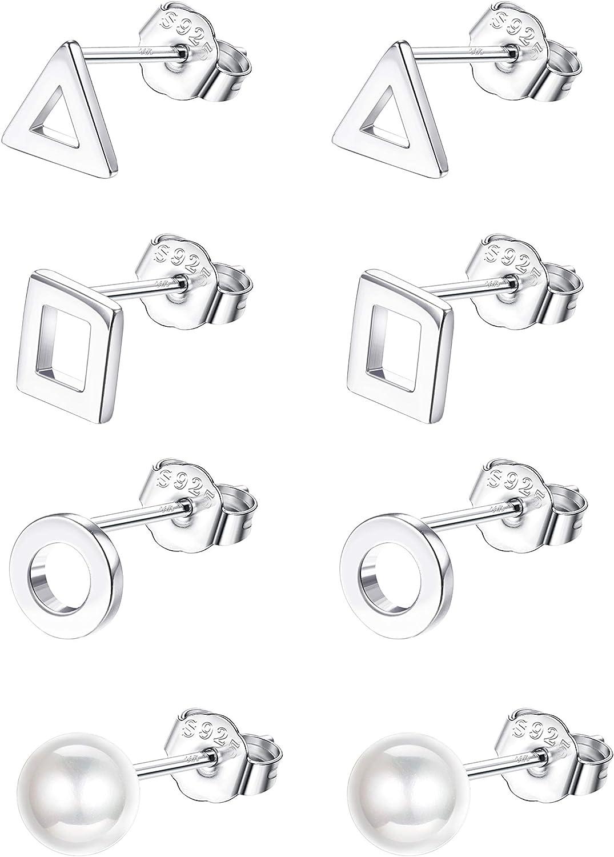 Small Triangle Stud Earrings TSGM074 4 mm Small Triangle Earrings,sterling Silver Earring,jewelry Sliver Stud Minimalist Earrings