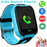 Kids Smart Watch Phone, GPS Tracker Smart Wrist Watch for 3-12 Year Old Boys Girls with SOS Camera Sim Card Slot Touch Screen Game Smartwatch Outdoor Activities Toys Childrens Day Gift (Blue)