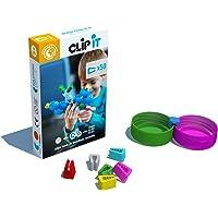 CLIP IT - jeu d'assemblage créatif, éducatif et durable, 90% surcyclé ! Boite de 50 clips- Thème papillon