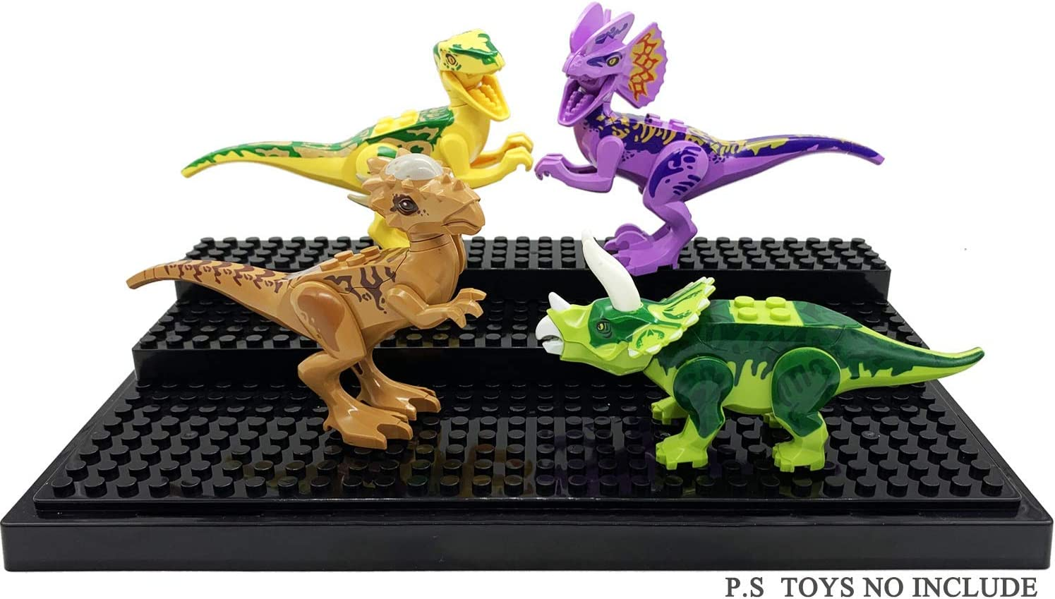 Display Box Gifts for Children,Black HYtiger Display Case for Minifigure Action Figures Blocks
