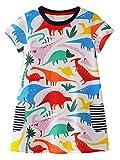 GSVIBK Kid Girl Cotton Dress Toddler Short Sleeve