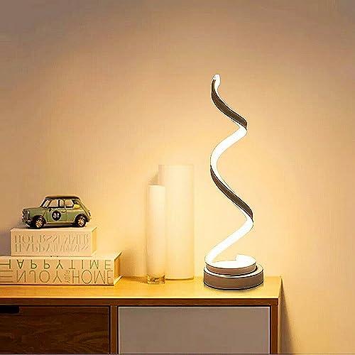 Febland Led Double Twist Tall Lamp Steel Silver Amazon