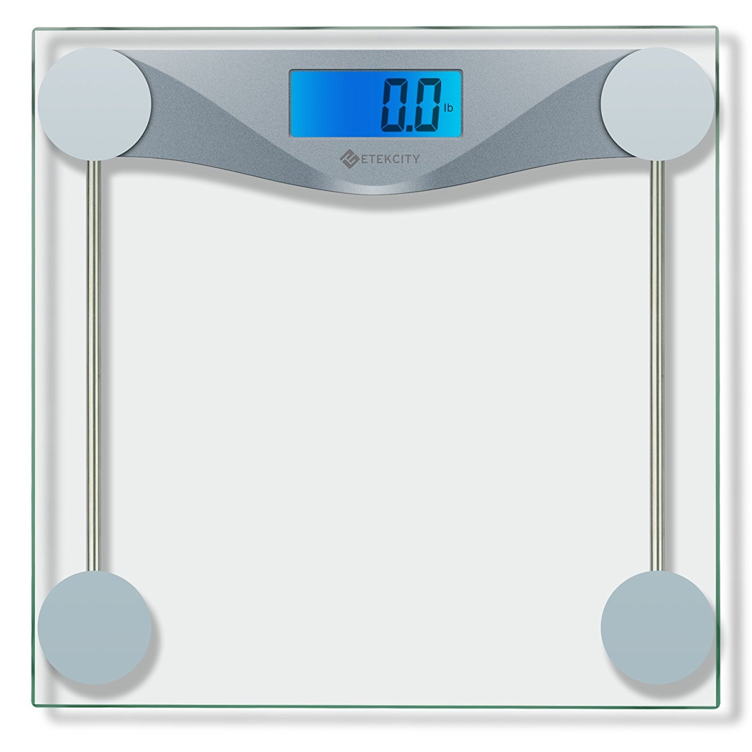 Etekcity Digital Bathroom Body Weight Scale, High Precision Smart Step-on technology, Tempered Glass, Backlit Display, Body Tape Measure(Batteries Included)