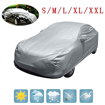 Full Size Large Car Cover UV Protection Waterproof Breathable Universal S M L