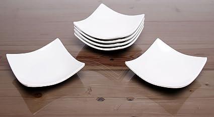 idea-station Gastro placas de melamina de 10 cm, 6 piezas, blanco,